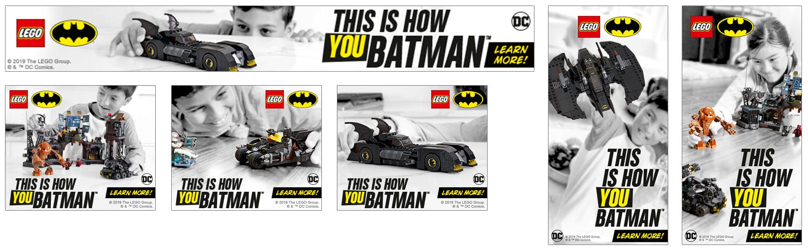 LEGO Batman Campaign — Design: MS / Copy: Peter Min / Photo: Atwater