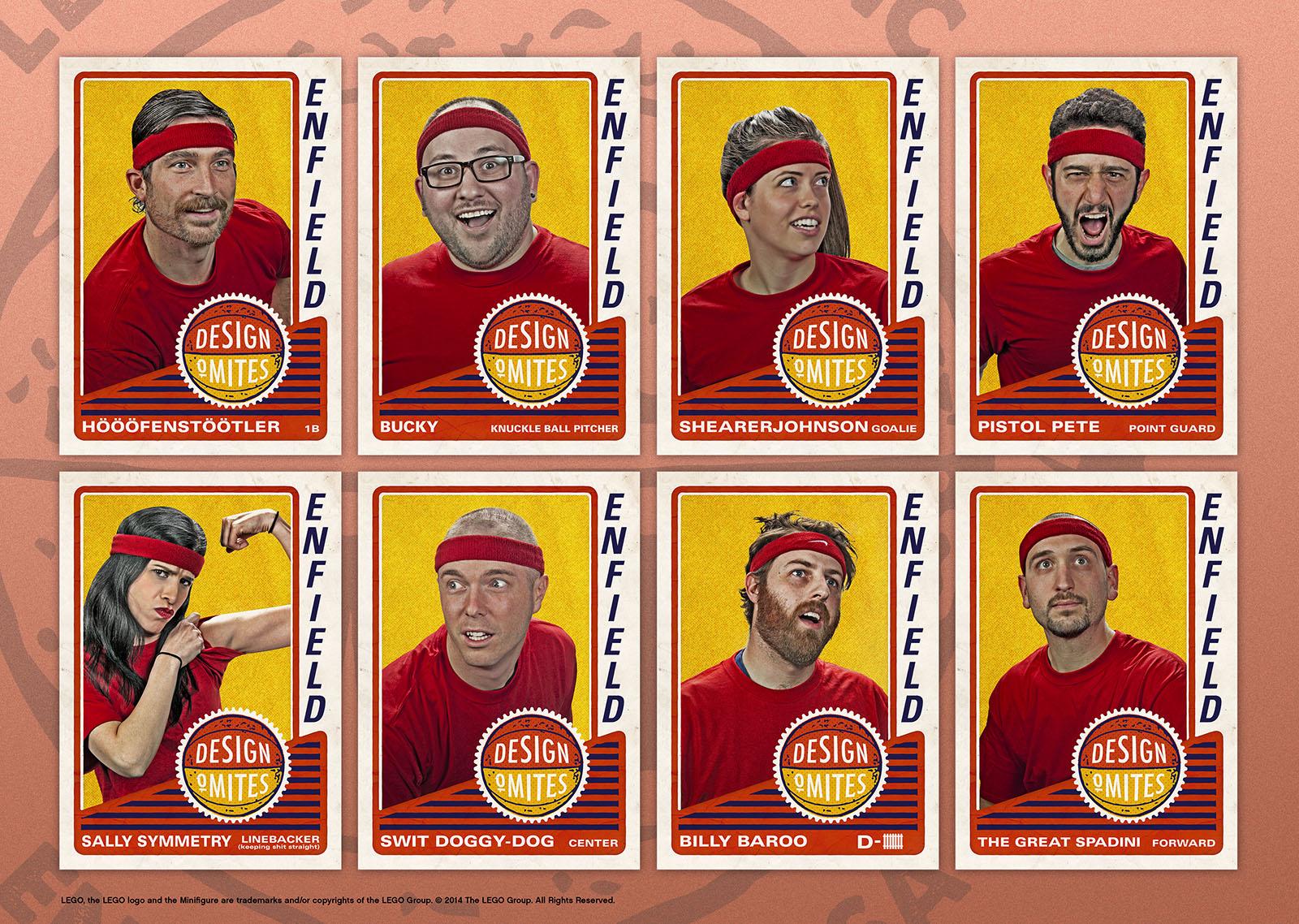 Design Team B-ball Cards: Design: MS / Photo: Bill Colburn