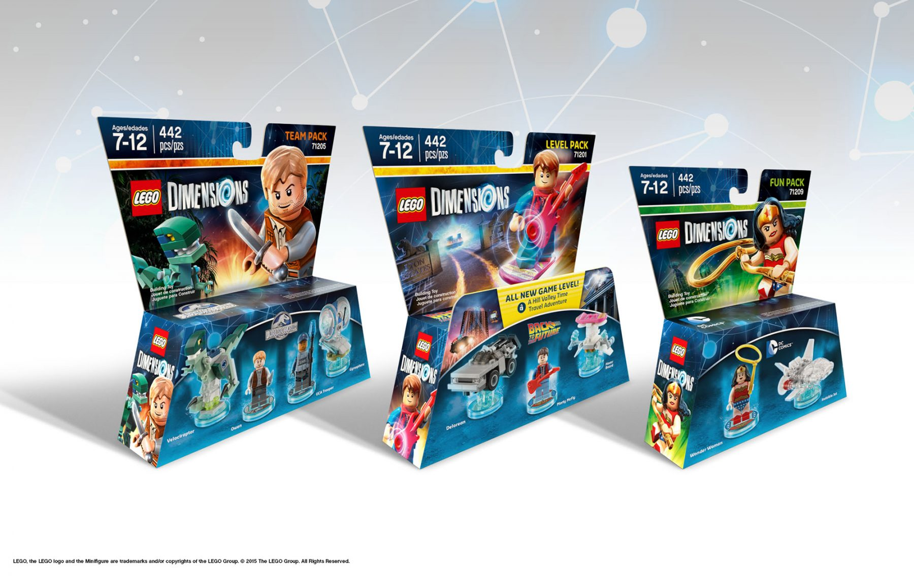 LEGO Dimensions Packaging — Design: MS, Leanne Pagano, Krista Kuehn / Illustration: Hubris / Photo: Atwater