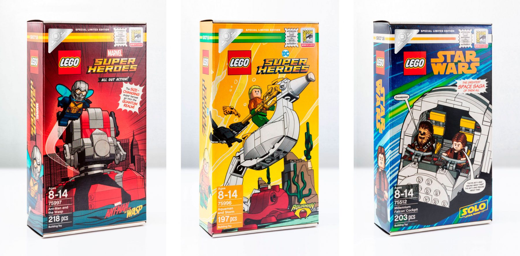 SDCC Exclusives Packaging — Design: MS / Illust: Paul Lee